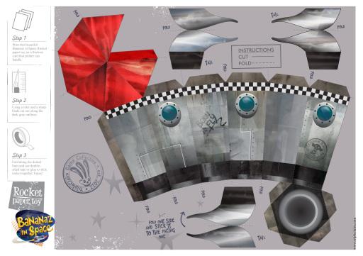 Paper Toy Rocket