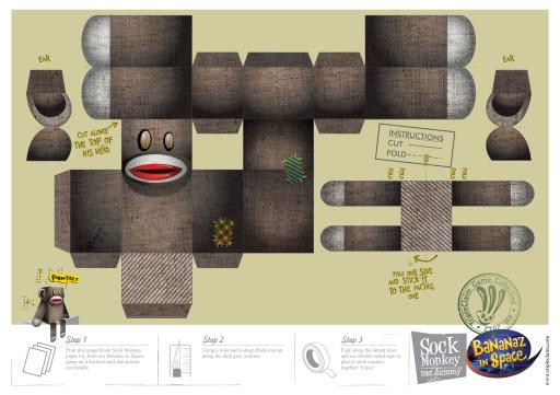 Paper Toy Monkey